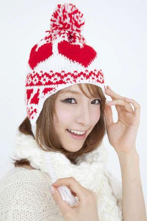 livelihood: Woman wearing a knit hat