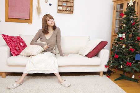 seres vivos: Las mujeres en la sala de estar.