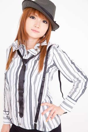 livelihood: Woman in a striped shirt