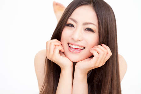 asian youth: Smiling woman Stock Photo