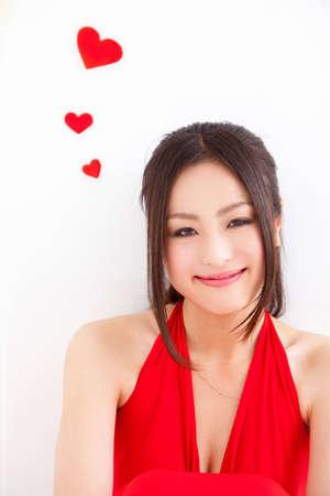 livelihood: Women with heart Stock Photo