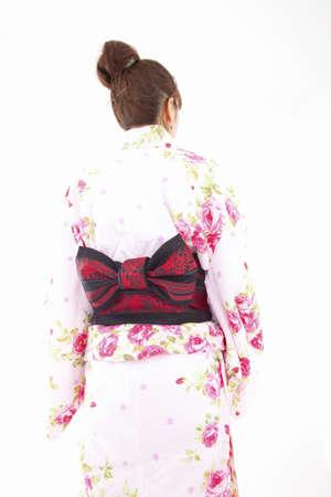 rear view: Rear View of yukata women