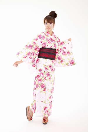 yukata: Women dressed in yukata Stock Photo