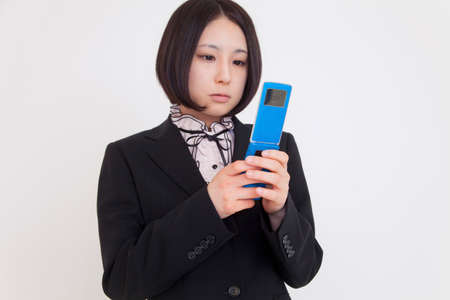 OL have mobile phones Stock Photo