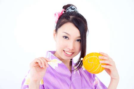 get dressed: Yukata have yo woman Stock Photo
