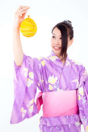 Yukata have yo woman Stock Photo
