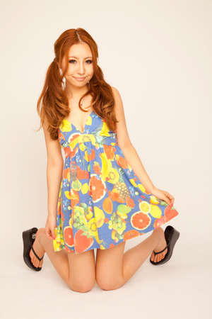 colorful dress: Women dressed in colorful dress Stock Photo