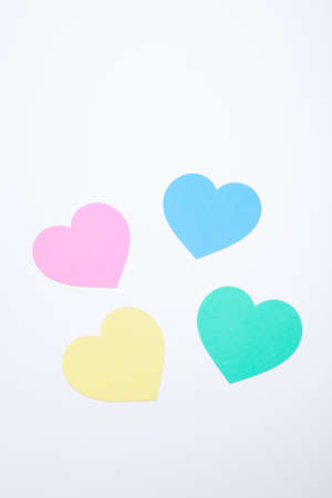 favour: Colorful hearts Stock Photo