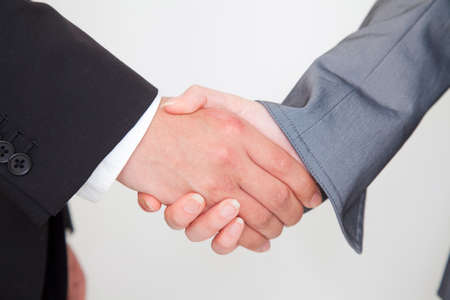 new recruit: Men and women of the hand for a handshake Stock Photo
