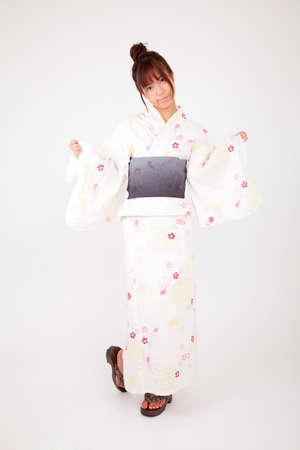 dressed: Women dressed in yukata Stock Photo