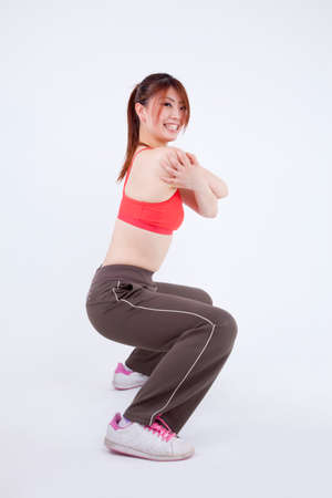 Woman and exercise photo