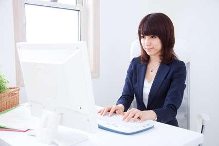 OL doing desk work photo