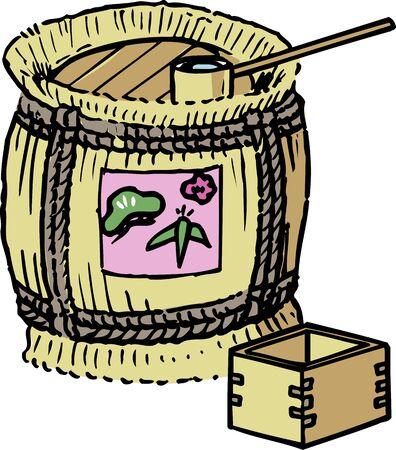 Sake barrels 版權商用圖片