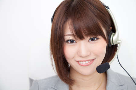 OL smile on income Stock Photo