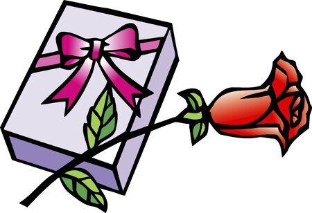 feb: Valentine gift Stock Photo