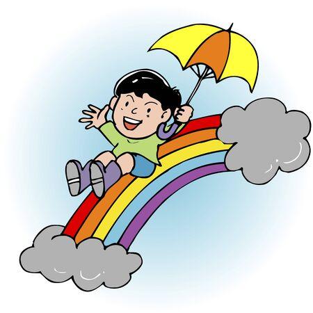 umbrella month: Rainbow bridge