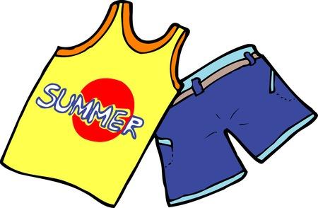 ropa de verano: Ropa de verano Foto de archivo