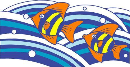 熱帯の魚 写真素材