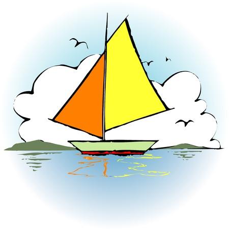 cumulonimbus: Yacht Stock Photo