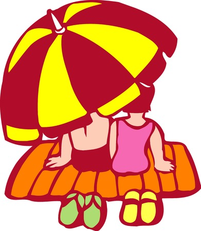 seawater: Beach umbrellas