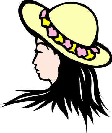 帽子の花輪 写真素材
