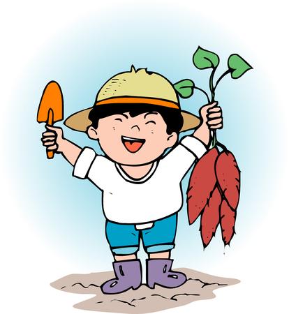 digging: Potato digging