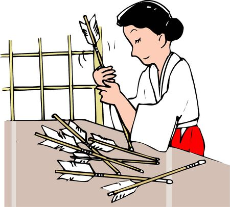priestess: Hamaya making