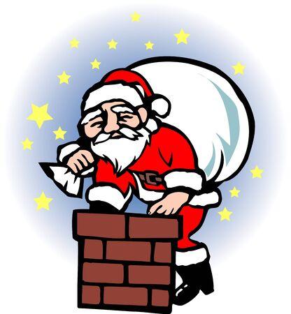 smokestack: Santa Claus Stock Photo
