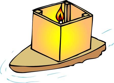 annual events: Lantern sink Stock Photo
