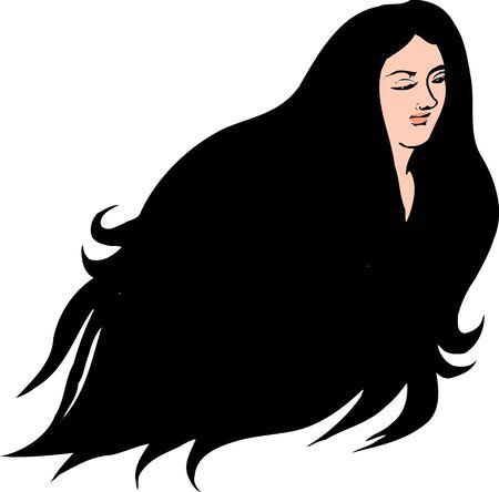 hairdo: Woman silhouette