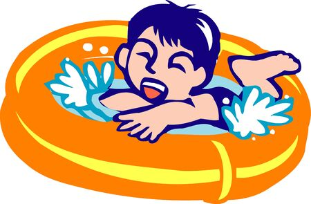 rubber ring: Rubber ring pool Stock Photo