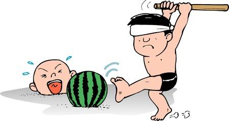 splitting: Watermelon splitting