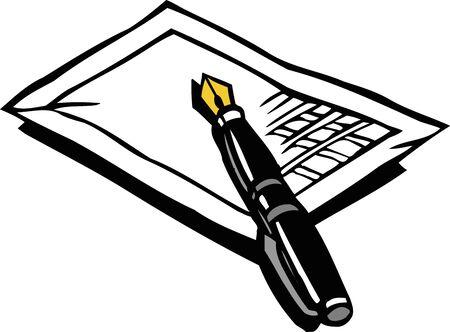 writing instrument: Fountain pen Stock Photo