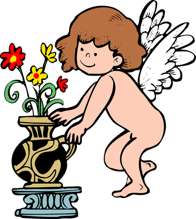 annual events: Angel Stock Photo