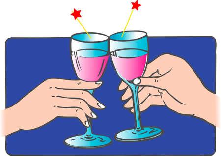 rice wine: Cheers