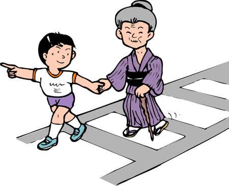 paso peatonal: Inducción del paso de peatones
