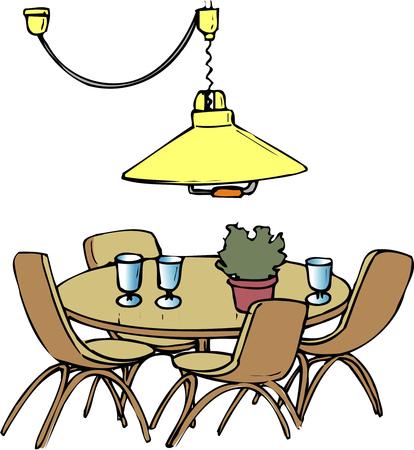 キッチン ・ テーブル 写真素材