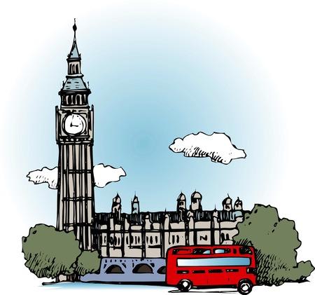 ロンドンの時計塔 写真素材