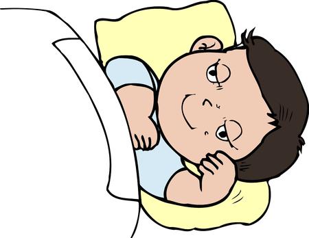 childcare: Sleepy face
