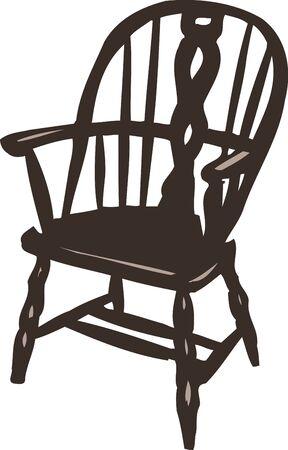 antique chair: Chair