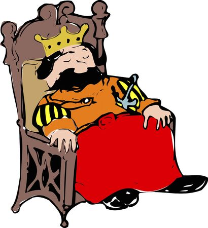 king chair: Chair of the king