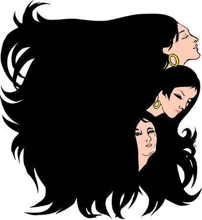 hairdos: Woman silhouette