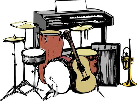 band instruments: Band instruments such Stock Photo
