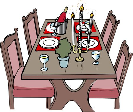 dining table: Dining table Stock Photo