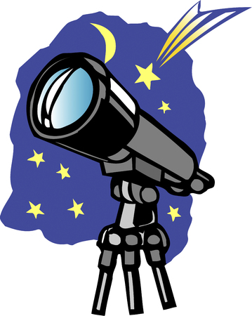 observing: Astronomical telescope Stock Photo