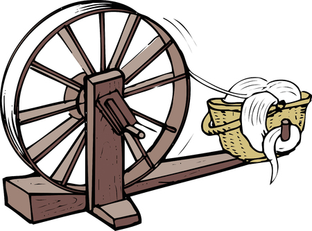 spinning: Spinning wheel Stock Photo