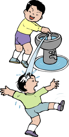 behaviour: Water prank