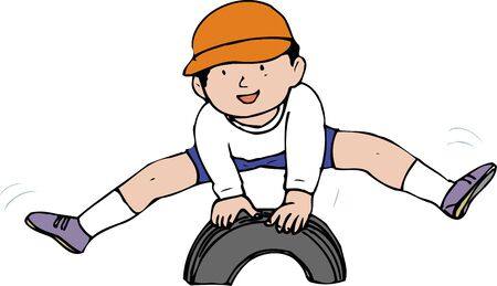 behaviours: Jump tire horse