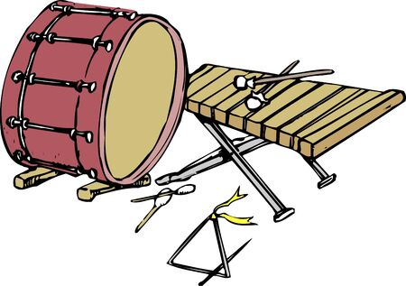 Percussion class 版權商用圖片