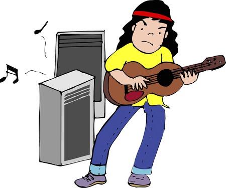 Electric guitar 版權商用圖片